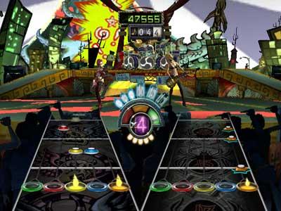 Guitar hero III игра вдвоём