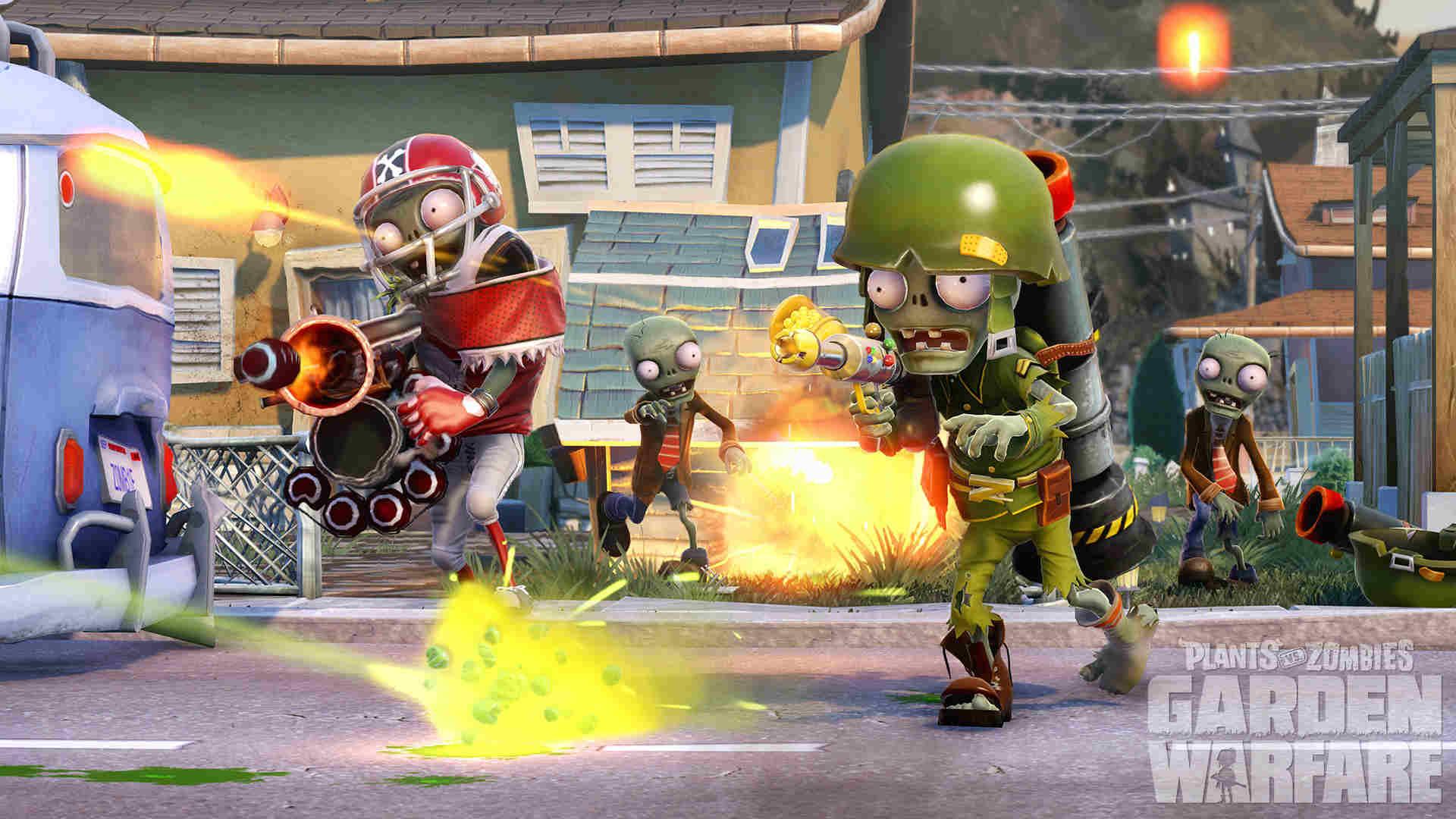 шутер Plant vs Zombie: Garden Warfare
