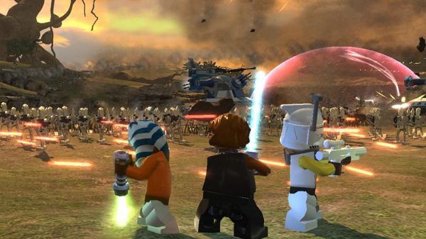 Игра LEGO Star Wars III: The Clone Wars  на двоих