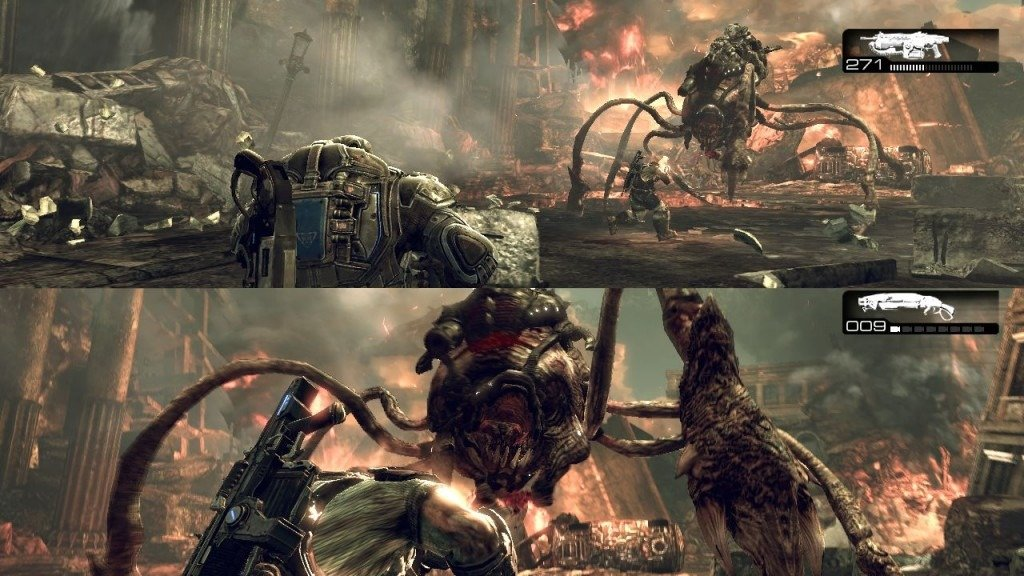 Gears of War 3 splitscreen