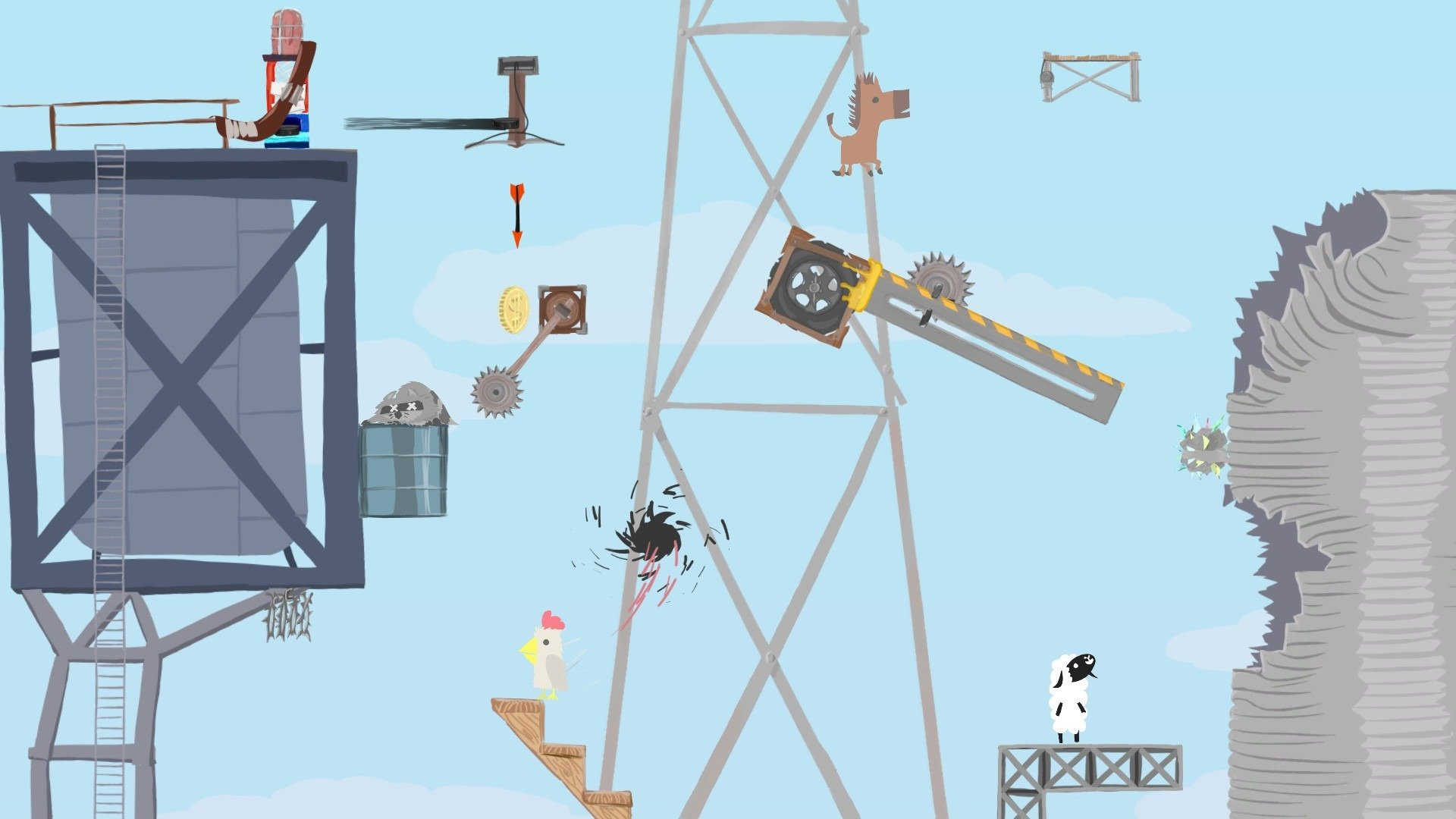 Ultimate Chicken Horse gameplay